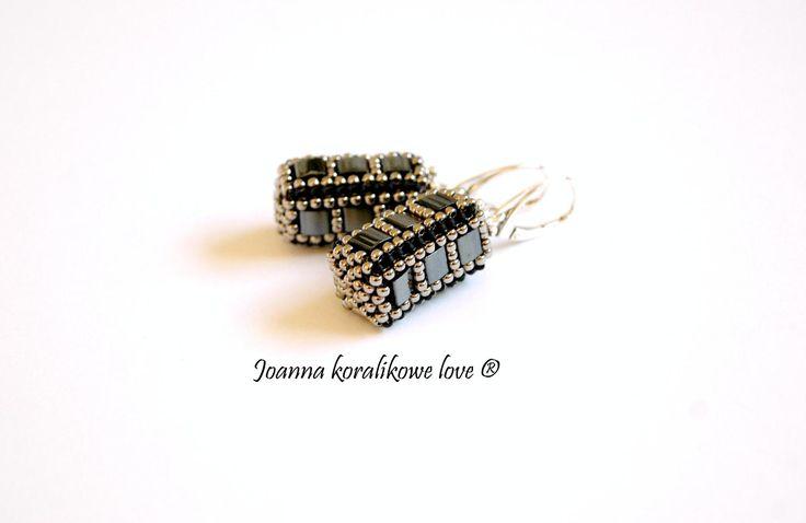 Tila earrings beaded jewelry