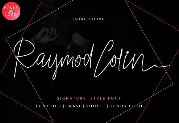 Raymod Colin Font Duo by Ijemrockart on @creativemarket