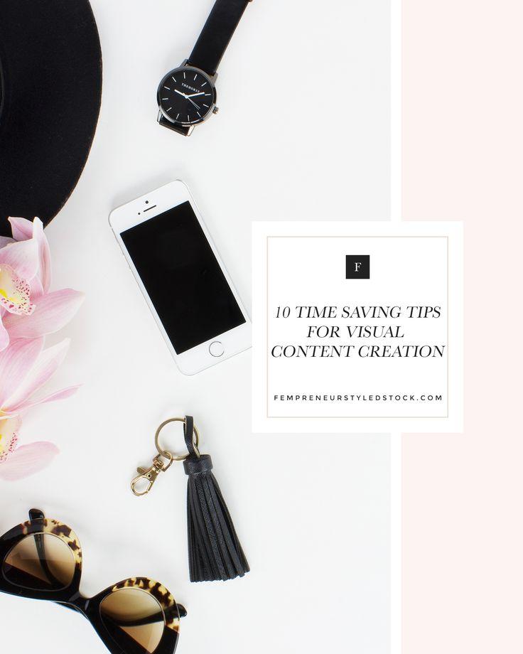ten time saving tips when creating visual content