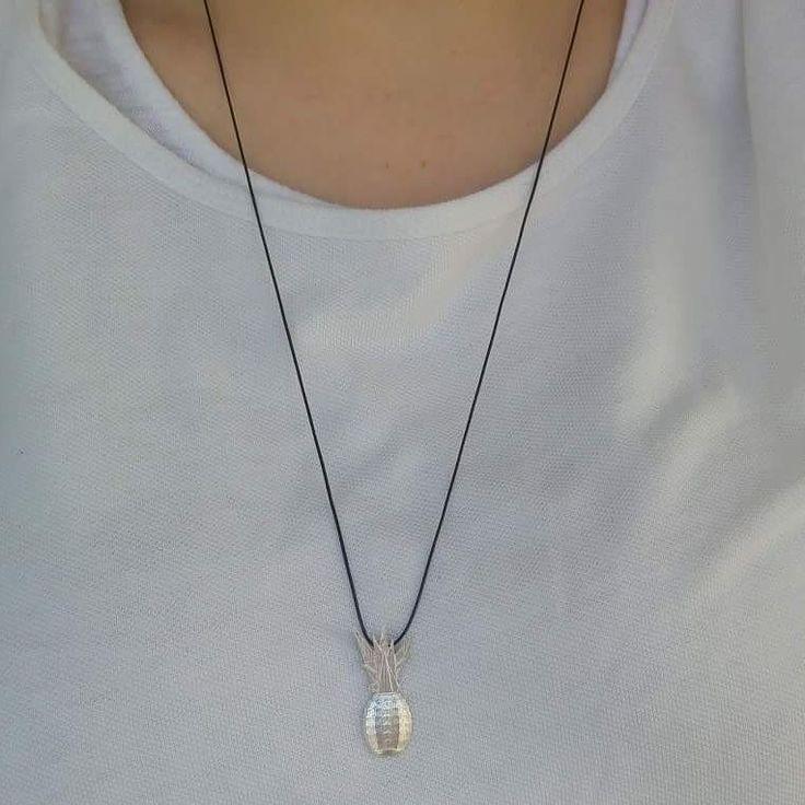 precious_handmade_jewellery#precious #handmade #jewellery #silver #925silver #pendant #necklace #unique #pineapple #summer