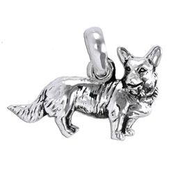 Our Sterling Silver Cardigan Corgi Charm is handcrafted in the USA. Perfect to add to a charm bracelet or necklace. Over 100 breeds to choose from!