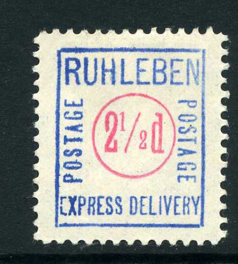 Ruhleben Prisoner of War stamps, issued by prisoners in Germany during World War One.