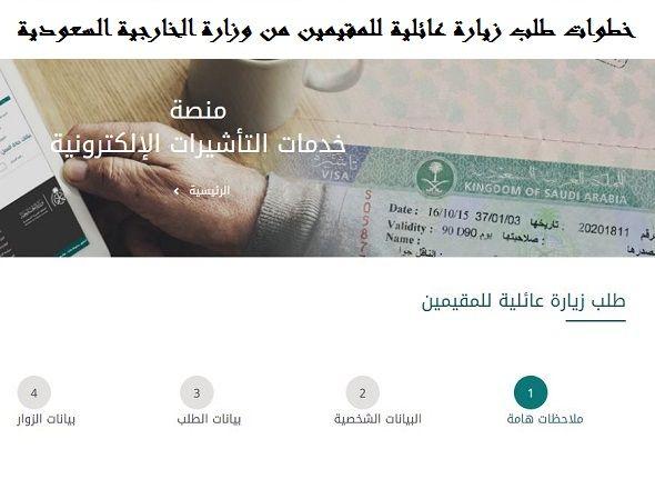 خطوات طلب زيارة عائلية للمقيمين من وزارة الخارجية السعودية الهجرة معنا Resident Visiting Travel