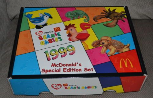McDonald's 1999 Ty Teenie Beanie Babies Collector Set of 12