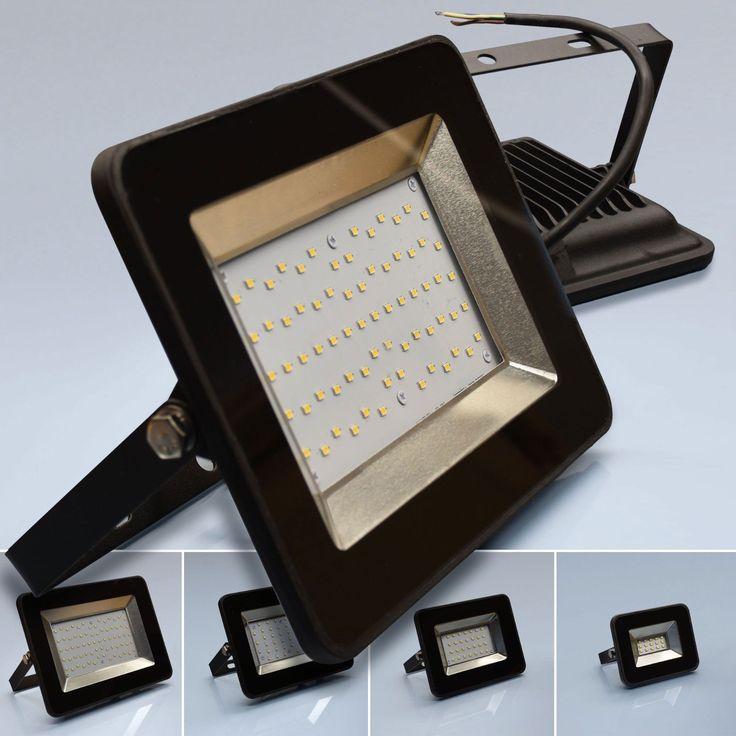 LED Baustrahler Bau Fluter 30mm Arbeits Lampe Strahler IP65 10W 20W 30W 50W | eBay