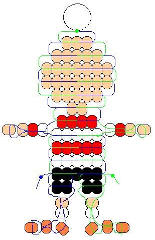 BEADS / PERLES / PARELS - Linus Peanuts pony beads pattern