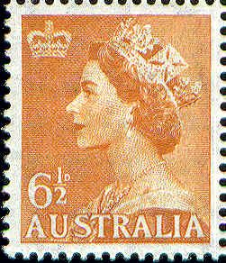 QE2 Definitive 6 1/2d -- Issued 23/061954.