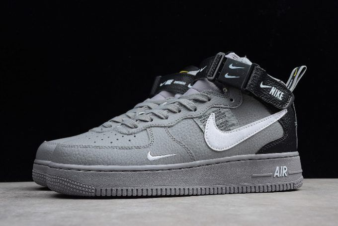 the best attitude f850f 029b5 Buy Nike Air Force 1 AF1 Mid 07 LV8 Wolf Grey White-Black Sneakers Online-6