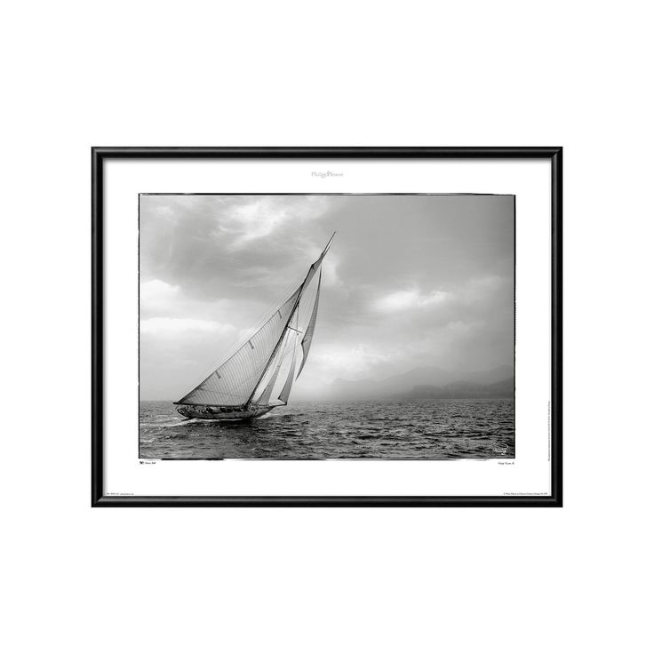 Art.com Classic Yacht Matted Framed Wall Art, Black