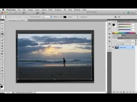 Grunderna i Photoshop CS5 - 12 Räta en sned horisont