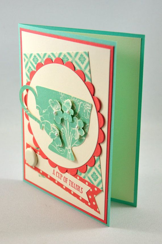 Thank You Greeting Card Thanks Thank You by SnippetsByDesign