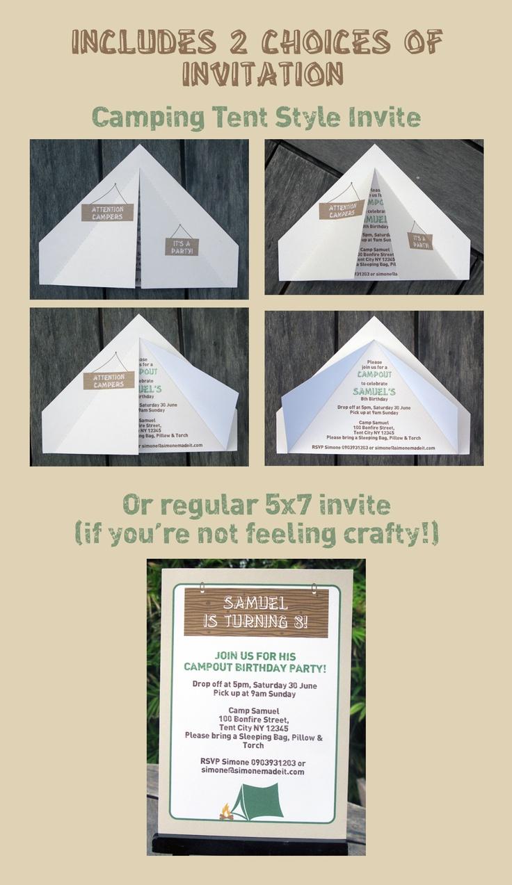 Camping Tent Invitation