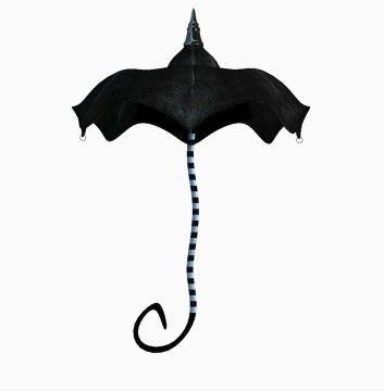 Burton-esque umbrella --perfect for gothic Lolita style or just goth fashion in general