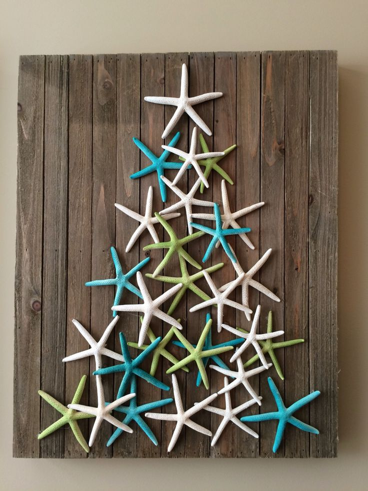 Coastal Christmas Decor - starfish art - beach decor - christmas tree - Christmas decoration by planbinteriors on Etsy https://www.etsy.com/au/listing/478357921/coastal-christmas-decor-starfish-art