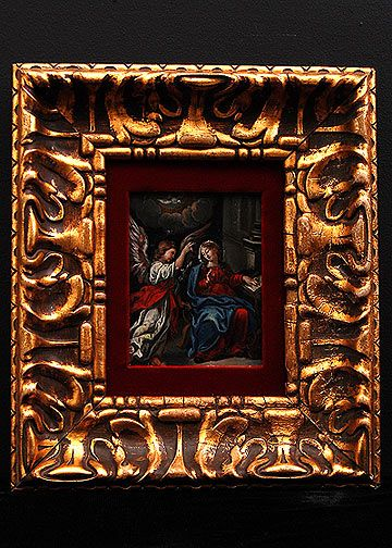 The Annunciation 17th Century Flemish Oil Painting On
