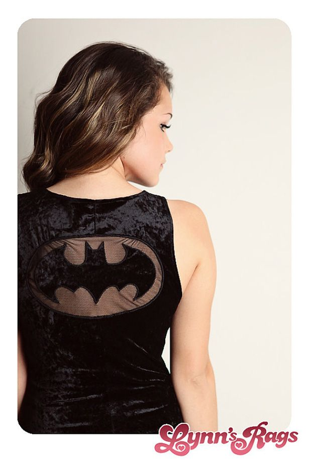 Batman sheer lace cutout tee.