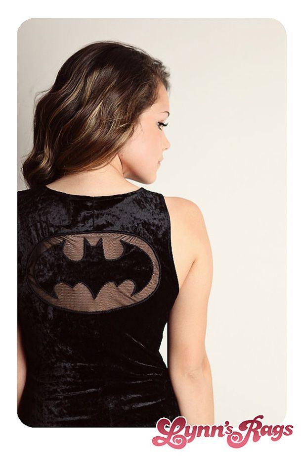 Batman sheer lace cutout tee.