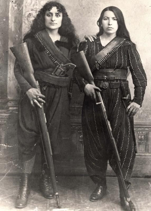 Amazons of the Caucasus, in 1895. (photo taken in Western Armenia)