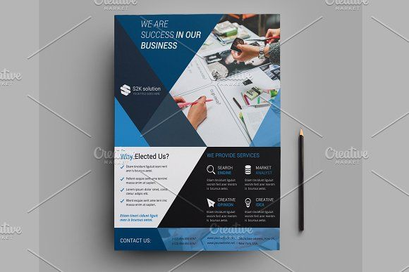 Corporate Flyer Template-V511 by Template Shop on @creativemarket