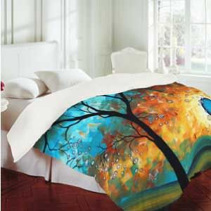 "Read this great review on MADART's ""Aqua Burn"" Duvet cover from Deny Designs!!"