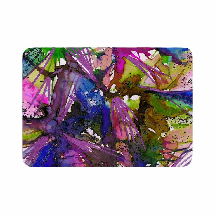 "Ebi Emporium ""Birds Of Prey - Tropical II"" Multicolor Painting Memory Foam Bath Mat"