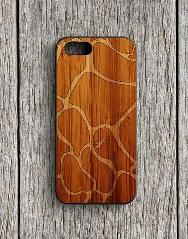 Giraffe Pattern Brown Skin iPhone 5   5S Case