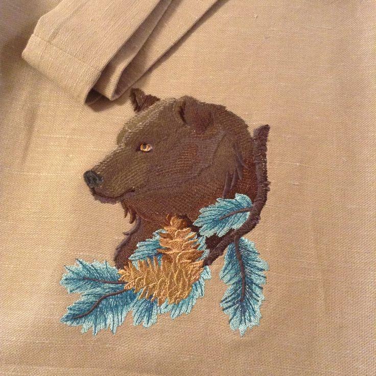 Текстильная сумка с медведицей
