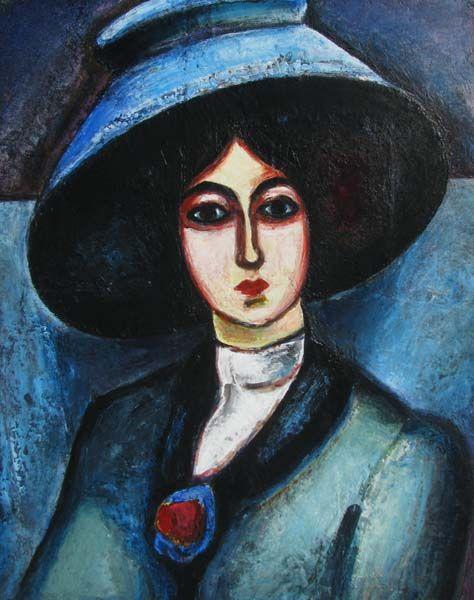 Karo ALEXANIAN - Femme au chapeau