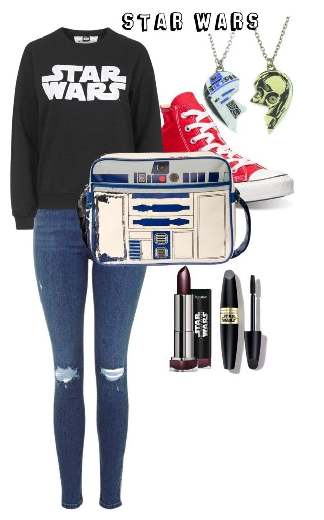"""""""STAR WARS theme!"""" by love-eve13 on Polyvore featuring Converse, R2, Tee and Cake and Max Factor"""