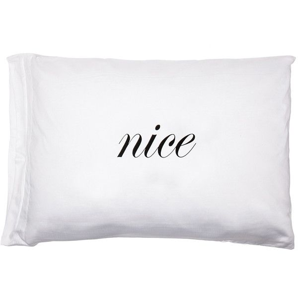 Kiki de Montparnasse Naughty & Nice Standard Pillowcase Set found on Polyvore featuring home, bed & bath, bedding, bed sheets, accessories, kiki de montparnasse and egyptian cotton bedding