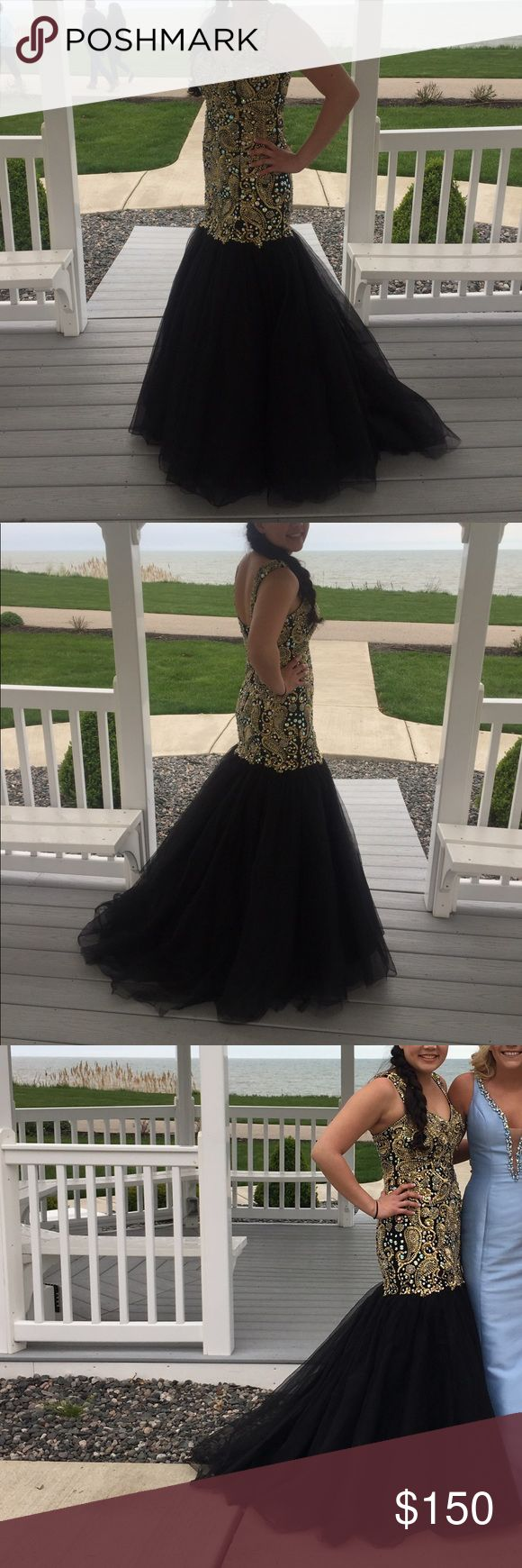 Prom dress Smoke free home! Any questions just ask! I'm 5'4 and wore 3 inch heels Panoply Dresses Prom