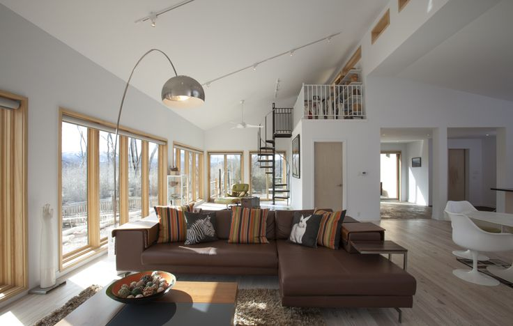A view of the open living space in this colorado blu homes balance house
