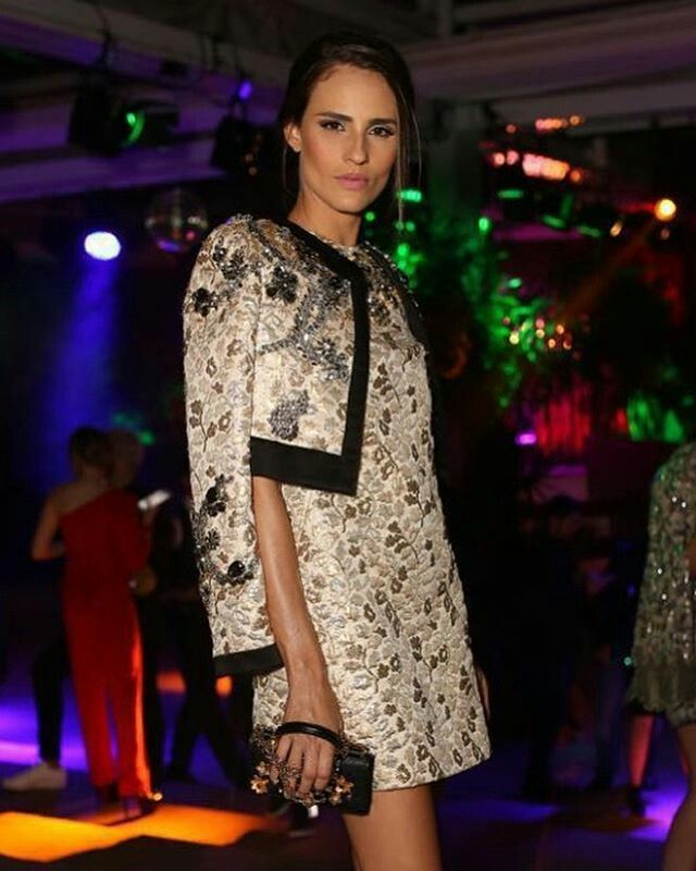 @dolcegabbana Classy @fernandatavares_official at the #DGLovesBrazil party wearing Dolce&Gabbana. ph. @fashiontomax