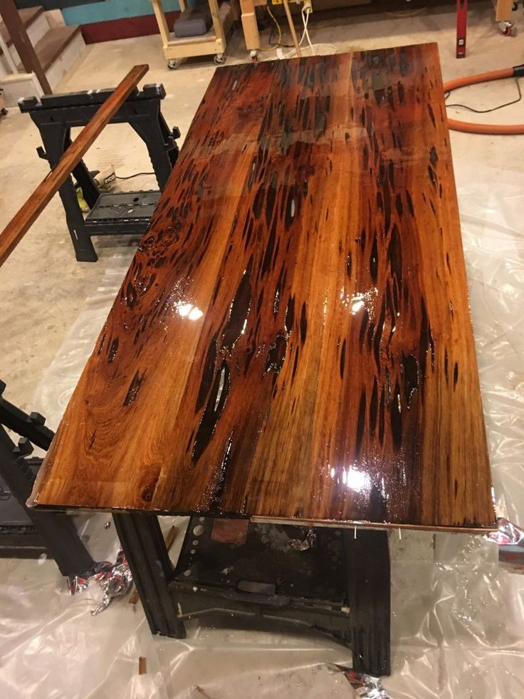 Epoxy Resin Dining Table Using Pecky Sinker Cypress Full