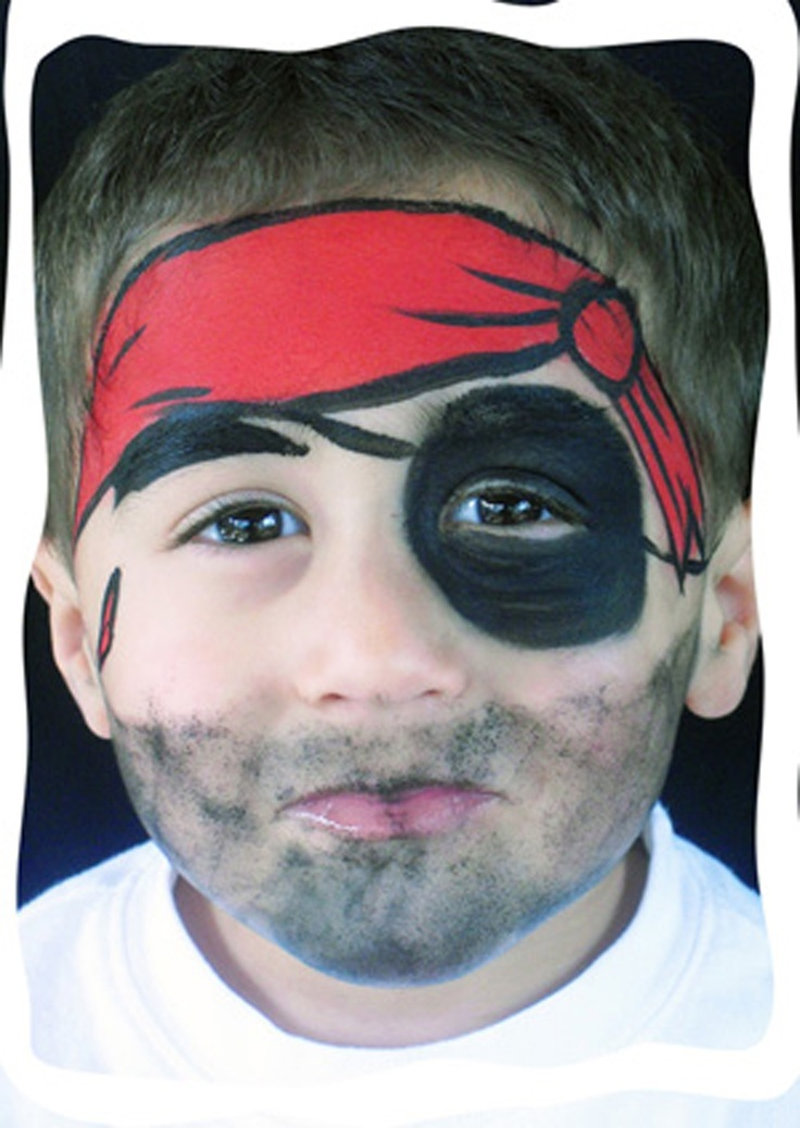 Pirate Face painting design | face paint designs | Pinterest