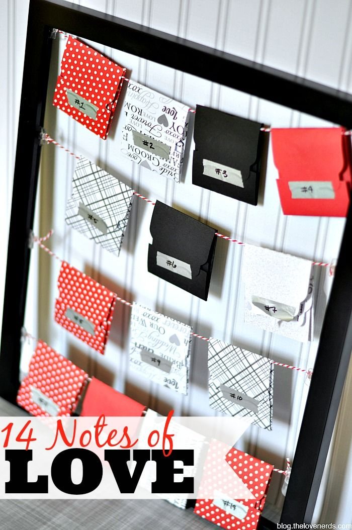 14 Notes of Love - Count down to Valentine's Day or a special event with a daily note of love or date night idea! {The Love Nerds}