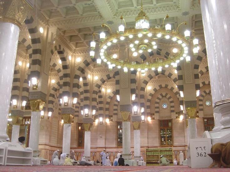 Breathtaking interior of Masjidil Nabawi, Madinah