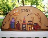 Halloween Door Crown Shelf Sitter Primitive Art Home Decor