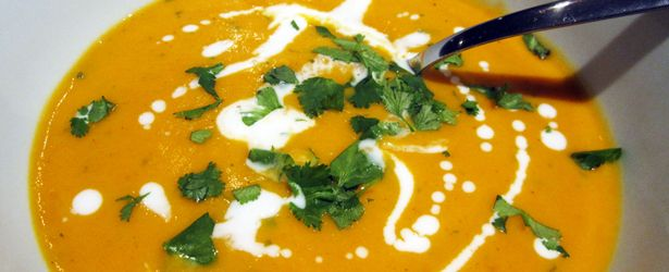 Mmmmm this is soooo good! Roasted Butternut Squash, Lime Soup