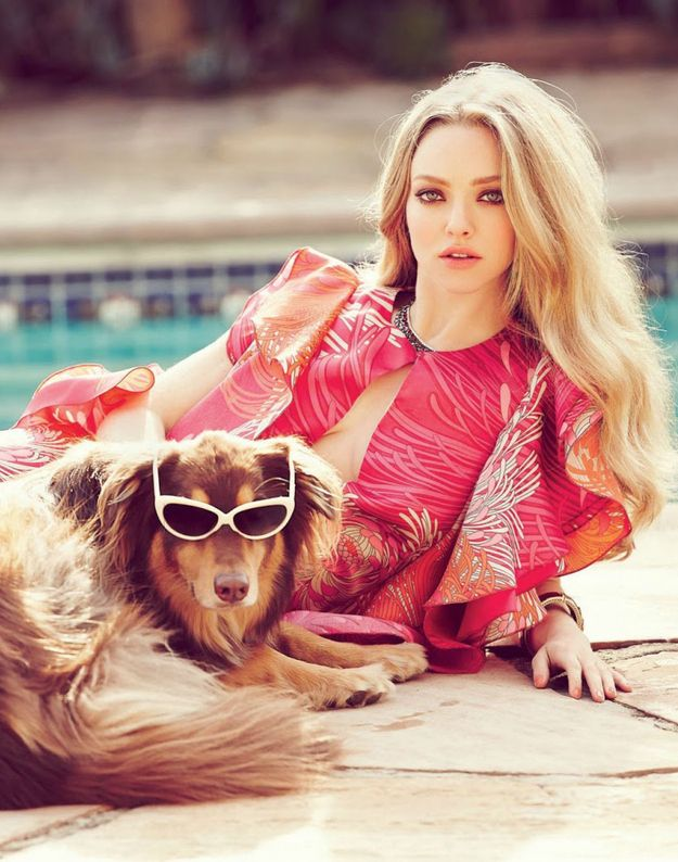 Also we can't forget about how cool he looks in sunglasses. SO cool that he was in a magazine with them on. | Amanda Seyfried's Dog Is America's Hidden Treasure