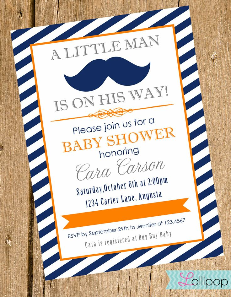 little man mustache baby shower printable invitation personalized li