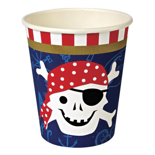 Piratenparty Pappbecher Kindergeburtstag