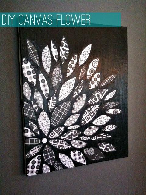 DIY Tutorial: Home / DIY Canvas Flower With Scrapbook Paper - Bead&Cord