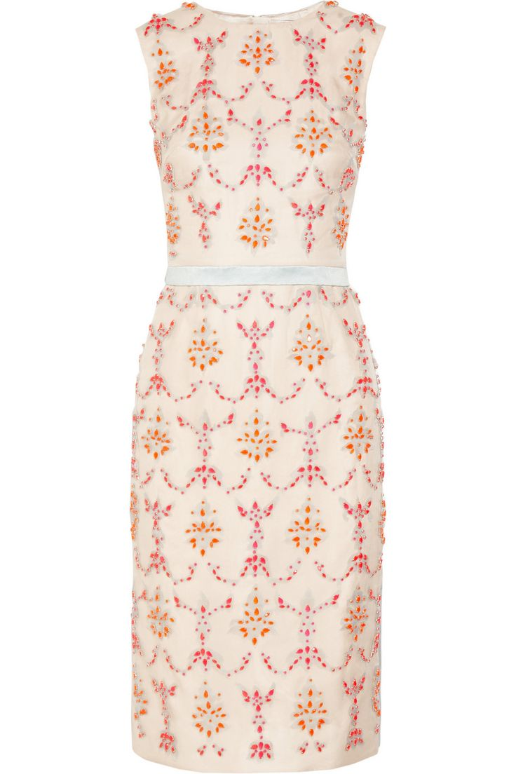 Erdem - Mallory crystal-embellished silk-blend dress