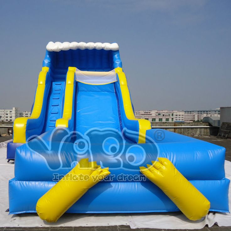 Backyard pool slide commercial grade inflatable water - Commercial swimming pool water slides ...