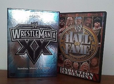 WWE Wrestlemania XX (3-Disc Set) PLUS 2004 Hall of Fame VG Condition- Ships Free