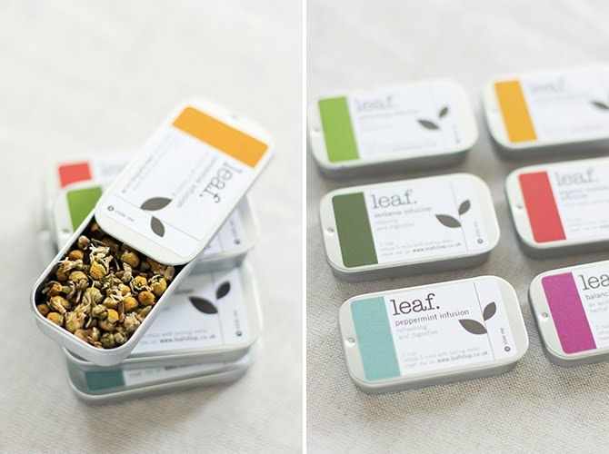 Genius idea! Tea favor with pretty color label