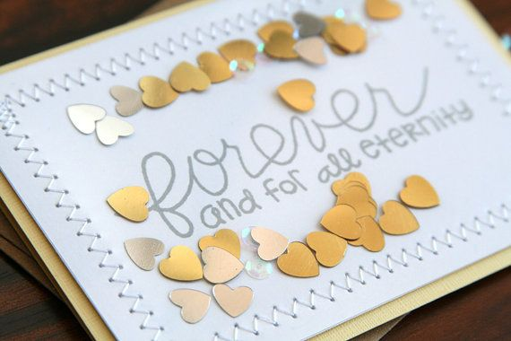 Handmade Wedding Congratulations Card  Hand Stamped by pearllui, $12.50