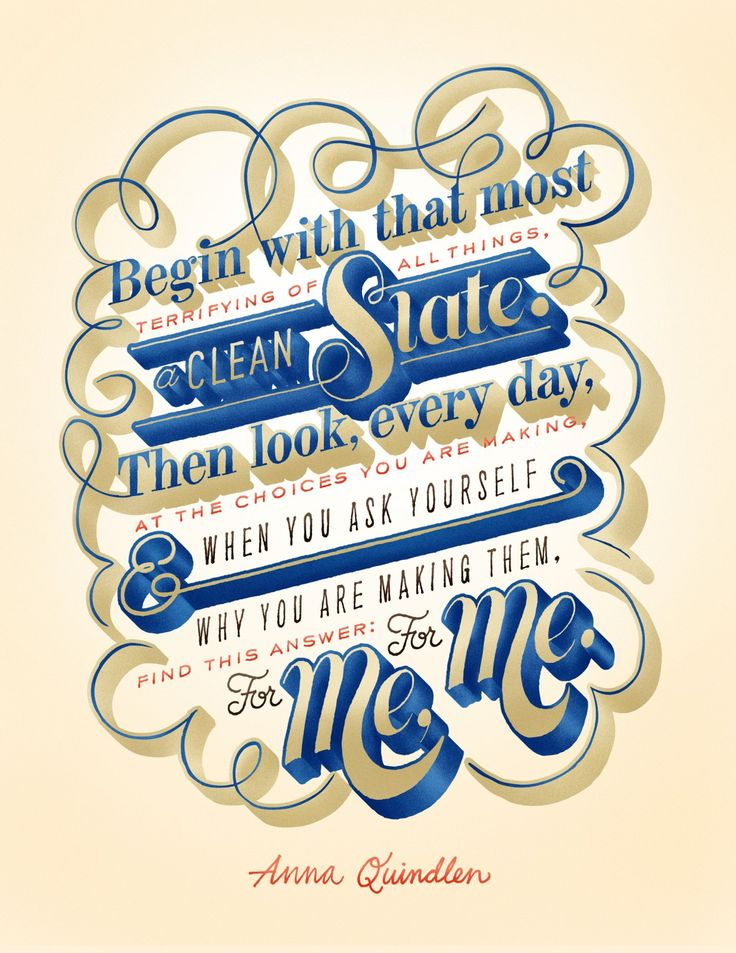 "One for the Ladies Pt. 3 Friends of Type:  ""We did the lettering for a series of quotes published in this month's issue of Woman's Day. Here's the last one of the bunch."""