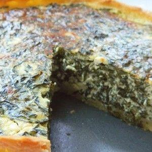 Тарт с сыром фета и шпинатом